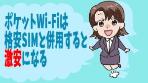 ポケットWi-Fiは格安SIMと併用すると激安になる