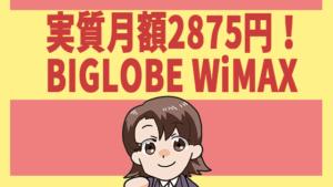 実質月額2875円!BIGLOBE WiMAX