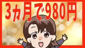 3ヵ月で980円
