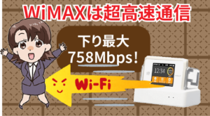 下り最大758Mbps!WiMAXは超高速通信