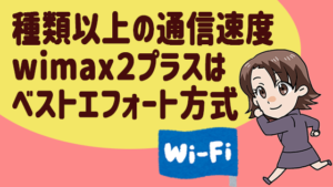 2 種類以上の通信速度wimax2プラスはベストエフォート方式