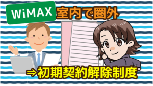 wimaxが室内で圏外になったら初期契約解除制度を利用できる