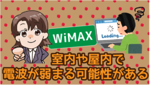 wimaxは室内や屋内で電波が弱まる可能性がある