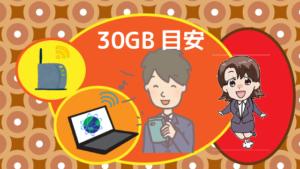 30GBの目安